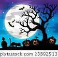 Halloween tree silhouette theme 4 23892513