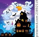 Haunted house silhouette theme image 3 23892519