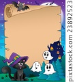 Parchment with Halloween cat 23892523