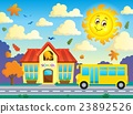 School and bus theme image 3 23892526