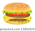 Modern flat design illustration of big hamburger 23892829