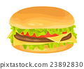 Modern flat design illustration of big hamburger 23892830