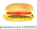 Modern flat design illustration of big hamburger 23892833