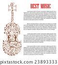 music, violin, vector 23893333