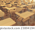 School classroom with empty school chairs 23894194