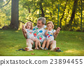 child, grandfather, family 23894455