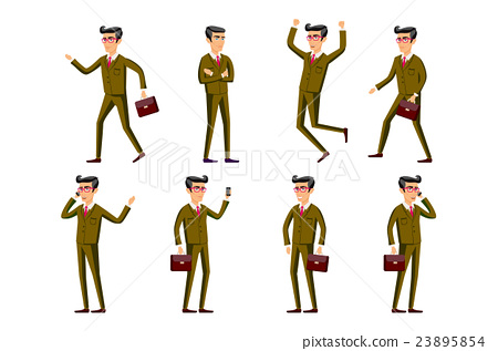 Collection of business people illustrations  23895854