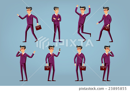 Collection of business people illustrations  23895855
