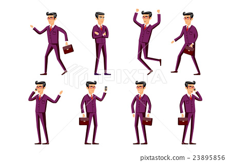 Collection of business people illustrations  23895856