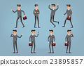 Collection of business people illustrations  23895857