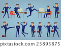 Set of businessman characters poses , eps10 vector 23895875
