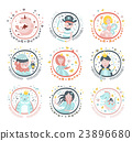 Fairy Tale Characters Girly Stickers In Round 23896680