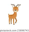 동물, 벡터, 사슴 23896743