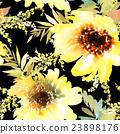 Sunflowers seamless pattern 23898176