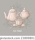 茶 茶壺 向量 23899801