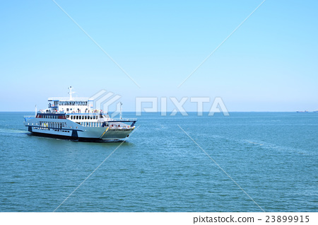 the ferry sails on the sea 23899915