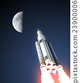 Space Launch System And Moon 23900006
