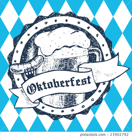 Oktoberfest vector illustration with beer mug 23902792