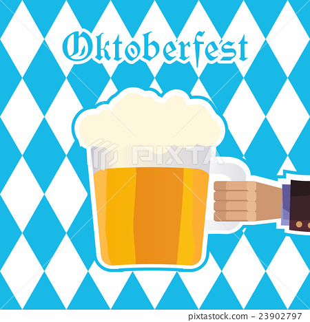 Oktoberfest vector illustration with beer mug 23902797