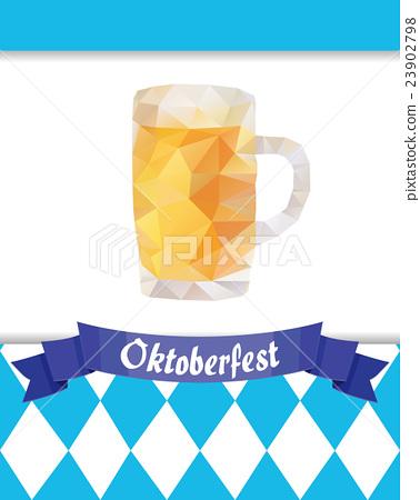 Oktoberfest vector illustration with beer mug 23902798