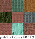 Set of old roof seamless generated textures 23903126