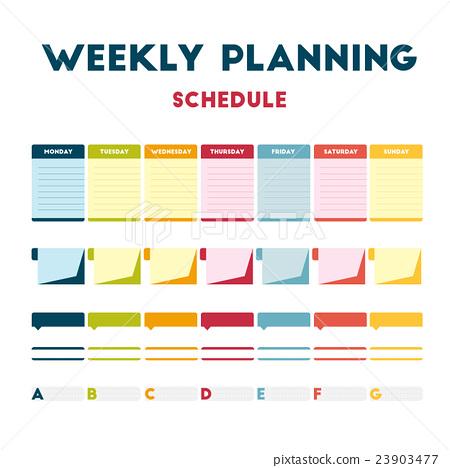 Weekly planning schedule 23903477