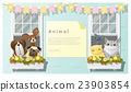 Cute animal family background with Dogs and Cats 23903854