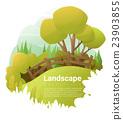 Green landscape background 23903855