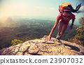 young woman hiker hiking outdoor 23907032