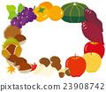 秋之美食 秋天 框架 23908742
