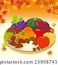 the taste of autumn, vector, dish in basket 23908743