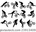 bmx cyclist silhouettes 23913409