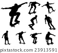 skateboarders silhouettes collection 23913591