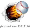 baseball ball fire 23915116