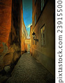 Prague alleyway - historical centre of the Prague 23915500