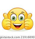 Emoticon showing thumb up 23916690