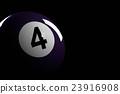 Pool Ball Number 4, 3D Rendering 23916908
