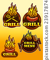 signs of grill and barbecue illustration 23917874