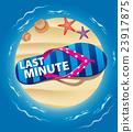 color beach flip with word last minute on sand isl 23917875