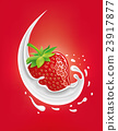 milk splash with strawberry 23917877