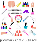Manicure, nail salon. Icon set 23918320