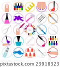 Manicure, nail salon. Icon set 23918323
