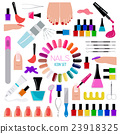 Manicure, nail salon. Icon set 23918325