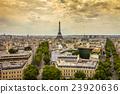 Panoramic view of Paris France 23920636