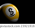 Pool Ball Number 9, 3D Rendering 23921916