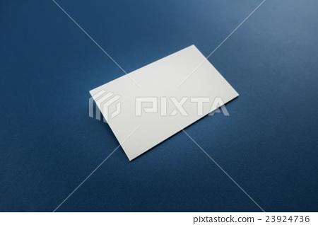 Blank business card, postcard with soft shadows. 23924736