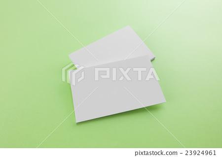 Blank business card, postcard with soft shadows. 23924961