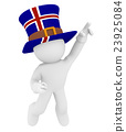 Jumping man with a hat of Iceland 23925084