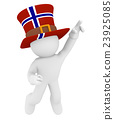 Norwegian fan jumping high 23925085
