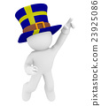 Swedish fan jumping high 23925086